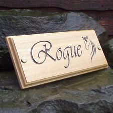 Horse Name Plate Stable Door Plaque (Vivaldi Font & Horse Head Logo) Custom Made