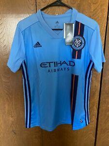 Adidas Womens New York City Football Club Soccer Jersey MLS Etihad Airways  Med