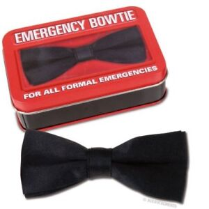 Emergency Clip-On Bow Tie ! Great for Sudden Formal Events Like Prom & Weddings!