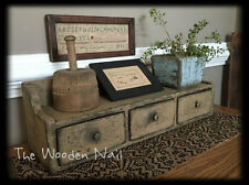 Primitive Grungy  New England 3 drawer Cupboard Pattern/Plan WN170