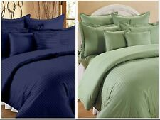 Egyptian Cotton Solid Multicolor King Size Bed Sheets With 2 Pillow Covers