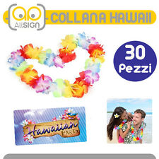 30 COLLANA HAWAII collane fiori estate hawaii festa party spiaggia hawaiane idee