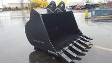 """New 72"""" John Deere 350 Severe Duty Excavator Bucket w/ Coupler Pins"""