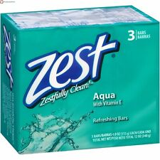 Zest Aqua Refreshing Bars with Vitamin E 3 Bars 12 Oz