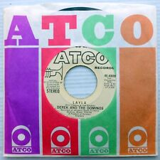DEREK and THE DOMINOS promo vg+ Atco 45 LAYLA 2:43 b/w vg++ I AM YOURS CT1086