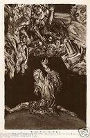 An den Ufern des Nichts Kunstdruck von 1924 Michaelis Dunkelheit Einsamkeit