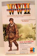 "12"" DRAGON  FIGURE VOLKER TOTENKOPF DIVISION WW 11 MIB"