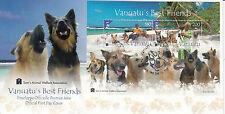 Vanuatu 2013 FDC Vanuatu's Best Friends 2v S/S Cover Dogs Sam's Animal Welfare
