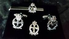 QARANC 2 tone + emamel 3D Cufflink, tie slide +lapel pin set, Army Nurse Nursing