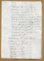 Antico documento manoscritto XVI / XVII secolo - Lucca - Ufficiali