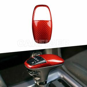 Carbon Fiber Inner Gear Shift Knob Cover For Dodge Challenger Charger 2015-2020