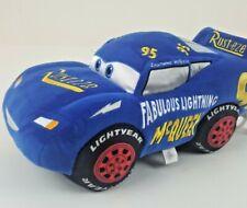 Cars Lightening McQueen Stuffed Race Car Official Disney Excellent Condition