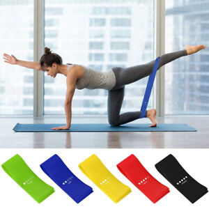 Resistance Loop Exercise Stretch Bands GYM Fitness Workout Power Strength Home