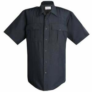 FLYING CROSS POWER STRETCH UNIFORM SHIRT LAPD Police Blue NEW! Poly Wool blend