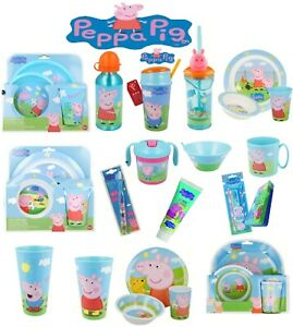 Peppa Pig World-15 Character Items Breakfast Sets,3D Tumblers,Bottle & Many More