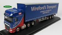 BNIB OO GAUGE OXFORD 1:76 76DXF002 DAF XF EURO 6 CURTAINSIDE WREFORDS LORRY