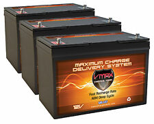 QTY3 VMAX MR127-100 AGM Grp 27 Batteries for MotorGuide 109lb 36V Trolling Motor