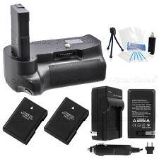 Battery Grip for Nikon D3400 + 2x EN-EL14a Batt + AC/DC Charger Kit