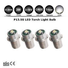 4x MAGLITE LED UPGRADE P13.5S CREE XPG BULB GLOBE 3 6 12 18V TORCH FLASHLIGHT