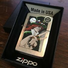 Zippo 207 GOTH MAN TOP HAT DESIGN Full Size Windproof New Street Chrome Lighter