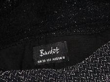 BARDOT BlackMetallicBlendStretchFauxStrapless Size10 NWoT