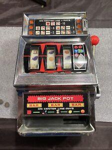 Vintage WACO Big Jack Pot Toy Slot Machine ~ Battery Operated