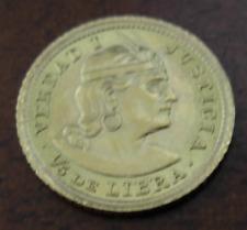 Peru 1961 ZBR Gold 1/5 Libra (Pound) UNC