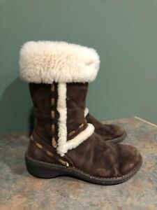 UGG 5674 ELIJO BROWN SUDED PULL ON BOOTS SIZE 7