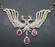 BRIDAL !!!! 3.90CT DIAMOND,RUBY & GOLD (14K)NECKLACE /MANGALSUTRA /FREE SHIPPING