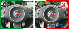 adesivi auto abarth 500 parte centrale volante sticker decal carbon look tuning
