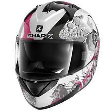 Shark Ridill Spring Motorcycle Motorbike Full Face Helmet - White / Pink