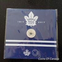 2017 Canada $3 Fine Silver Toronto Maple Leafs Color Coin #coinsofcanada