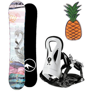 TRANS FE GIRL KINDER SNOWBOARD SET 2020 - 130 CM + JUNIOR BINDUNG GR. M + PAD
