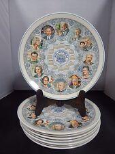 """8 Wedgwood Queens Ware Millenium Art & Music Calendar Plates 10.5""""; 2000 England"""