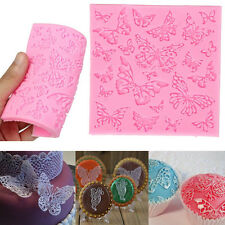 DIY Baking Silicone Embossed Mold Butterfly Lace Fondant Cake Decorating Mould