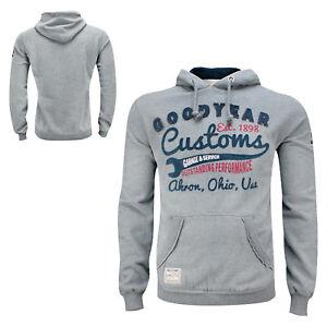 GoodYear Hoodie Grey Sweatshirt OREGON Biker Auto Hot-Rod Slim-Fit Kapuzenpulli