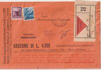 ITALIA 1949 LETTERA CON CONTRASSEGNO DA FIRENZE PER USCIO GENOVA