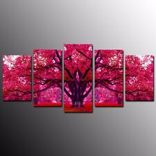 Modern Canvas Prints Big Red Tree Wall Art Canvas Painting Home Decor-5pcs