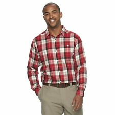 Big&Tall Men's Columbia Notched Peak Classic-Fit Plaid Button-Down Flannel Shirt