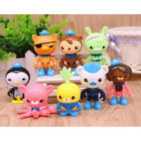 8pcs New Cartoon The Octonauts Action Figure Model toy for kid Birthday gift