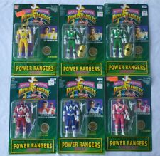 Vintage Power Rangers Auto Morphin Figures Lot CARDED Bandai Irwin Lot of 6