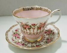 ROYAL ALBERT GREEN PARK SERIES CUP AND SAUCER IN PINK