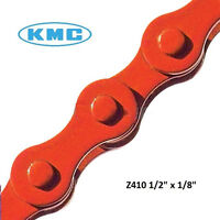 "KMC Chain Z410 1/8"" x 1/2"" Colored Bicycle BMX RED Haro Huffy Bike Custom DK"
