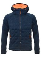 Superdry Mens Storm Quilted Zip Hood New with Tags Navy Marl XL