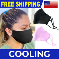 Ice COOLING Mask Mesh Washable Face Covering Breathable