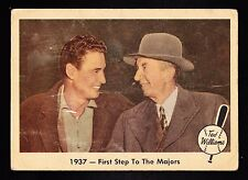 1959 FLEER TED WILLIAMS #9 1937 - FIRST STEP TO THE MAJORS W/EDDIE COLLINS