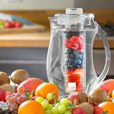 Fruit Infusion Pitcher Water Jug 2.0L With Ice Core & Flavour Infuser Cooler