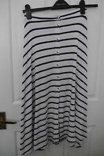 "Asos White & Blue stripe Maxi Skirt 30"" long Size 8 Vgc"