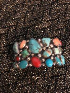 Beautiful Nakai Multi Stone Cuff Bracelet