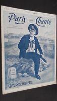 Revista Semanal Dibujada París Que Canta N º 182 Julio 1906 ABE